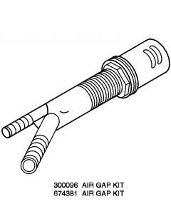 ForeverPRO 300096 Air Gap With Cp Cap for Whirlpool Dishwasher 60421 CD-4P 300096 8529490